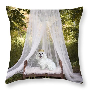 Maltese Princess Throw Pillow