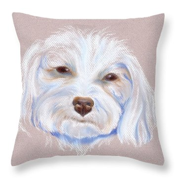 Maltipoo With An Attitude Throw Pillow by MM Anderson