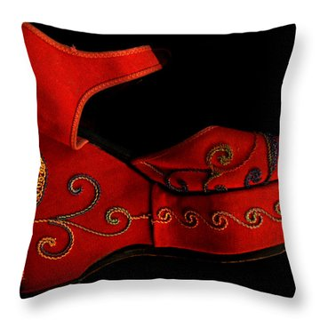 Mama Danced Throw Pillow by Lin Haring