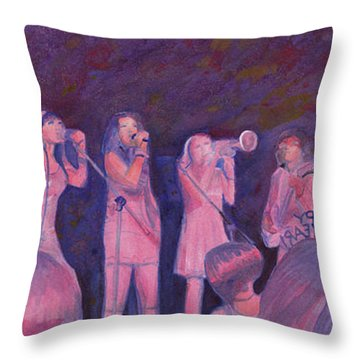 Mama Lenny And The Remedy Throw Pillow by David Sockrider
