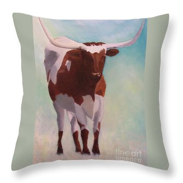 Mama Longhorn Throw Pillow