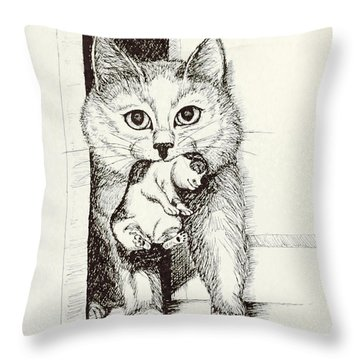 Mama On The Move Throw Pillow