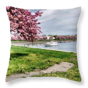 Mamaroneck Harbor Throw Pillow