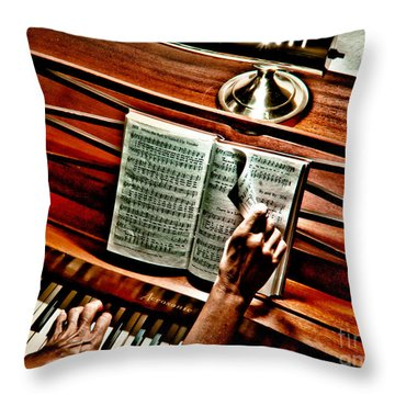 Momma's Hymnal Throw Pillow by Robert Frederick