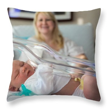 Mama's Pride And Joy Throw Pillow by Bill Pevlor