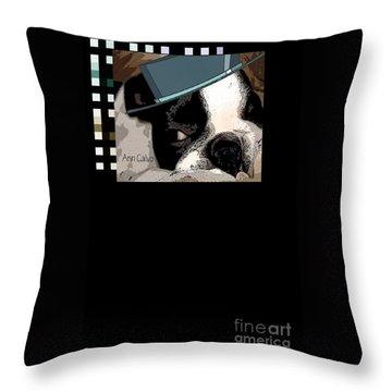 Throw Pillow featuring the digital art Mamia Mia by Ann Calvo
