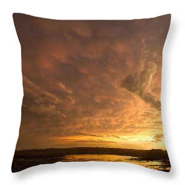 Throw Pillow featuring the photograph Mammatus Clouds by Rob Graham