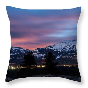 Mammoth At Night Throw Pillow
