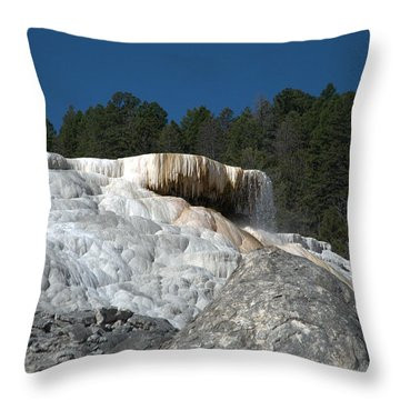 Mammoth Hot Springs 1 Throw Pillow