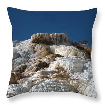 Mammoth Hotsprings 4 Throw Pillow