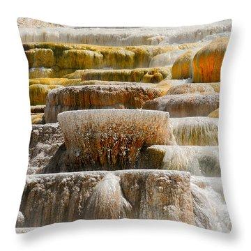Mammoth Springs Throw Pillow
