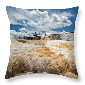 Mammouth Terraces Throw Pillow by Jack Bell