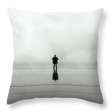 Man Alone Throw Pillow by Joana Kruse