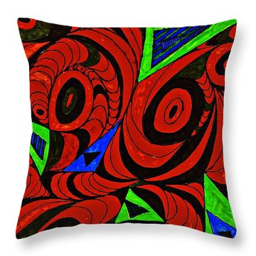 Man And Machine Throw Pillow by Sarah Loft
