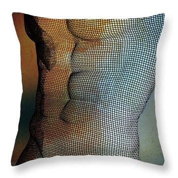 Man Body Throw Pillow by Mark Ashkenazi