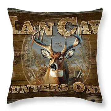 Man Cave Deer Throw Pillow