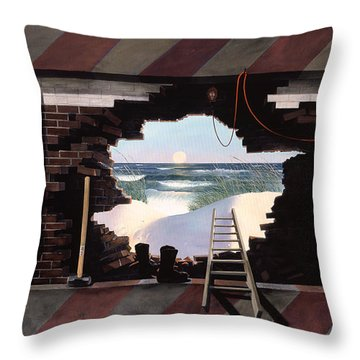 Man Escapes Throw Pillow by Blue Sky