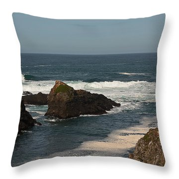 Man Fishing Throw Pillow by Brian Williamson