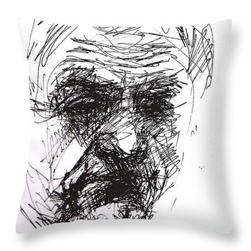 Man Head Throw Pillow