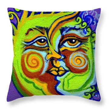 Man In The Moon Throw Pillow by Genevieve Esson