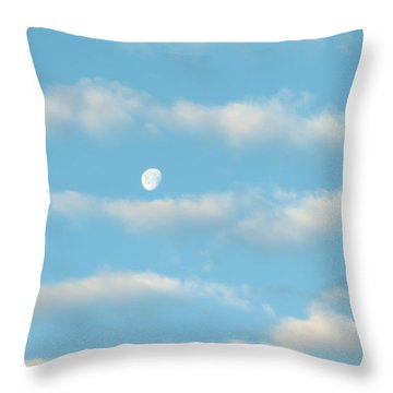 Man In The Moon In The Clouds Throw Pillow by Fortunate Findings Shirley Dickerson