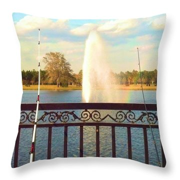 Throw Pillow featuring the photograph Man Made Rainbow by Tyson Kinnison