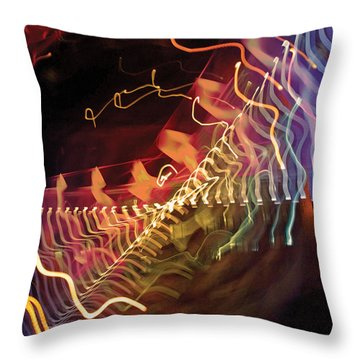 Man Move 0050 Throw Pillow by David Davies