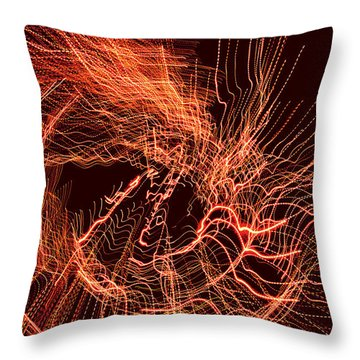 Man Move 0052 Throw Pillow by David Davies