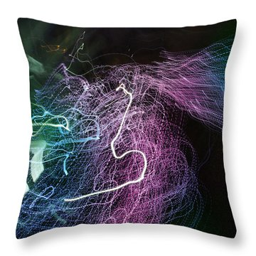 Man Move 0060 Throw Pillow by David Davies