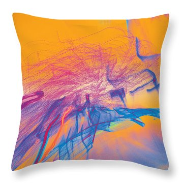 Man Move 0102 Throw Pillow by David Davies