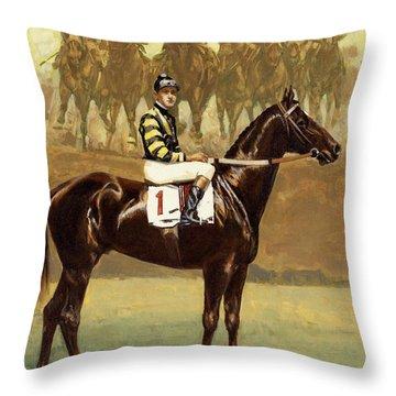 Man O' War  Throw Pillow