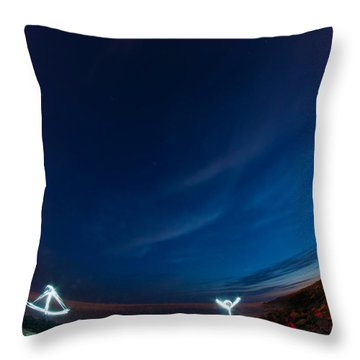 Man Of Light Throw Pillow