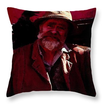 Throw Pillow featuring the digital art Man Of The Sea by Cathy Anderson