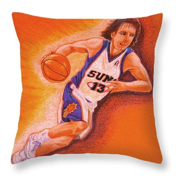 Man On Fire Throw Pillow