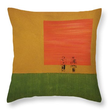 Man On The Brink Throw Pillow