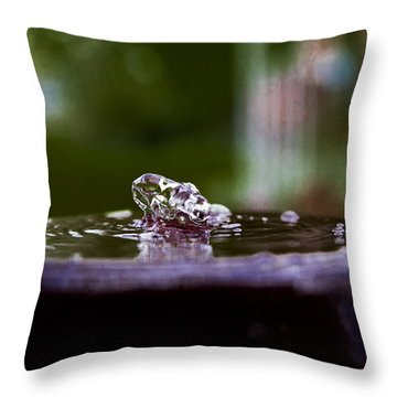 Man On The Surface Throw Pillow
