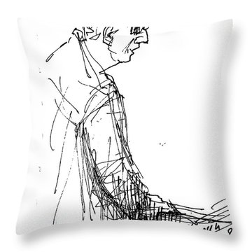 Man Standing Throw Pillow