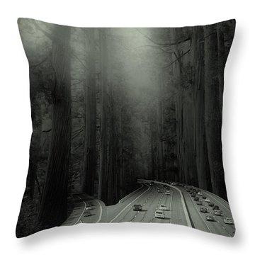 Man Verses Green Throw Pillow