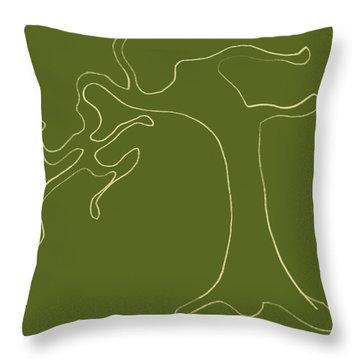 Man Versus Nature Throw Pillow