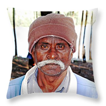 Man With A Mustache Throw Pillow by Ethna Gillespie