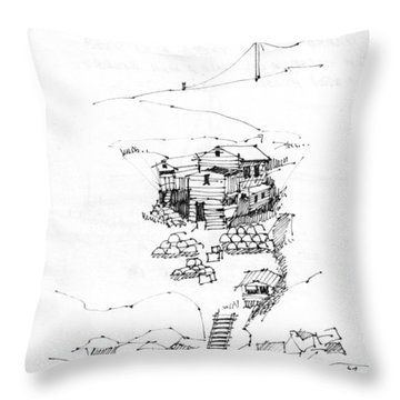 Manana Hermitage Throw Pillow