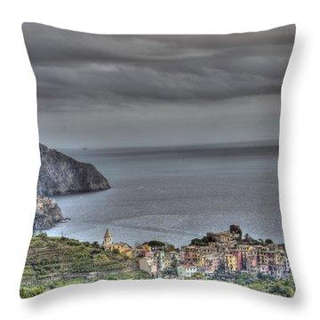 Manarola And Corniglia By The Sea 1 Throw Pillow