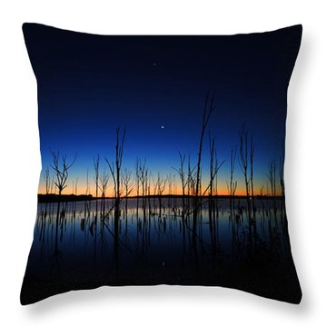 Manasquan Reservoir At Dawn Throw Pillow