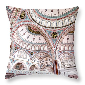 Manavgat Mosque Interior 02 Throw Pillow by Antony McAulay