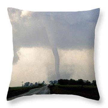 Throw Pillow featuring the photograph Manchester Tornado 1 Of 6 by Jason Politte