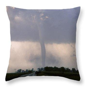 Throw Pillow featuring the photograph Manchester Tornado 2 Of 6 by Jason Politte