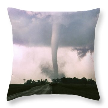 Throw Pillow featuring the photograph Manchester Tornado 4 Of 6 by Jason Politte
