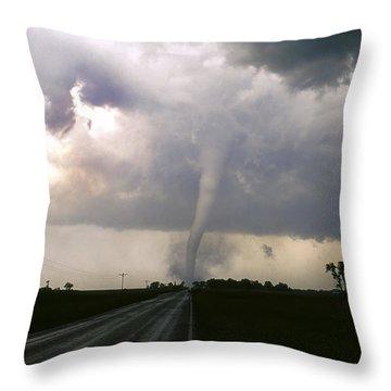 Throw Pillow featuring the photograph Manchester Tornado 5 Of 6 by Jason Politte