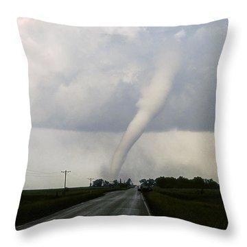 Throw Pillow featuring the photograph Manchester Tornado 6 Of 6 by Jason Politte