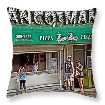 Manco And Manco Pizza Throw Pillow